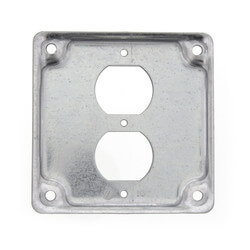 Flat One Duplex Receptacle Cover Product Image