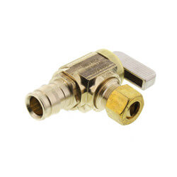 "1/2"" Expansion PEX Full-Port Angle Stop Valve, Lead Free (Brass) Product Image"