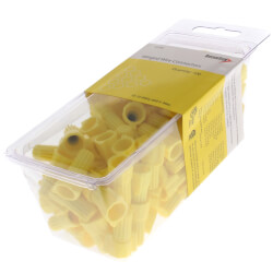 Yellow Winged Wire Connectors, Size 84<br>(Pack of 100) Product Image
