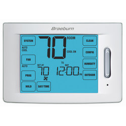 7 Day, 5-2 Day Programmable Touchscreen Hybrid Thermostat w/ Humidification Control (4H/2C)