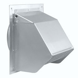 "Model 641 Aluminum Wall Cap for 6"" Round Duct, Natural Finish"