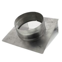 "8"" Round Duct Aluminum Fresh Air Inlet Wall Cap Product Image"