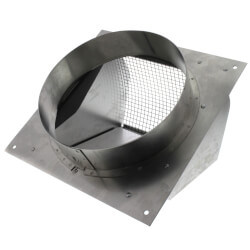 "7"" Round Duct Aluminum Wall Cap w/ Damper Product Image"