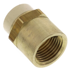 "1/2"" CPVC × 1/2"" FIP Brass Straight Adapter (Lead Free) Product Image"