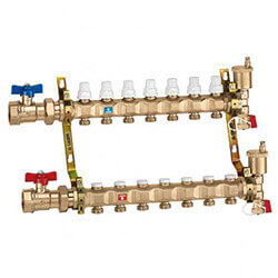 """1"""" Manifold w/ Shut-Off Valves (9 Outlets) Product Image"""
