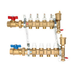 "1"" TwistFlow Manifold w/ Temp Gauge (4 Outlets) Product Image"