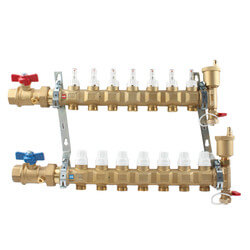"1"" TwistFlow Manifold w/ Temp Gauge (9 Outlets) Product Image"