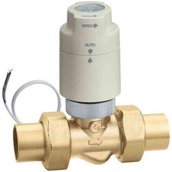 "1/2"" Sweat Union 2-Way Zone Valve w/ TwisTop Actuator Product Image"