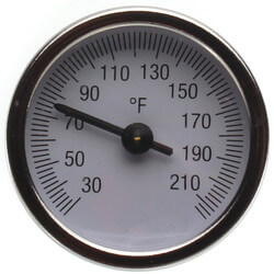 "2"" Temperature Gauge with Pocket Well for Manifolds"