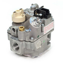 "1/2"" X 3/4"" Combo Gas Valve, 1/2"" Side w/ Plugs (240,000)"