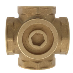 "1-1/2"" Brass 4-Way Mixing Valve"