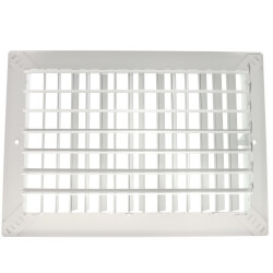 "12"" x 8"" White Commercial Supply Register (821 Series)"