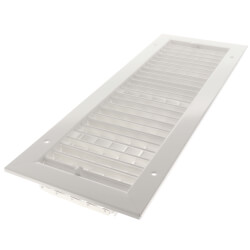 "20"" x 6"" White Commercial Supply Register (821 Series)"
