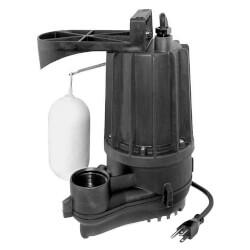 Aqua-Mate N76 Thermoplastic Man. Sump Pump - 1/2 HP, 9' Cord Product Image