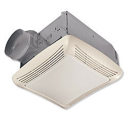 "Model 769RFT Ventilation Fan w/ Fluorescent Light, 4"" Round Duct (70 CFM)"