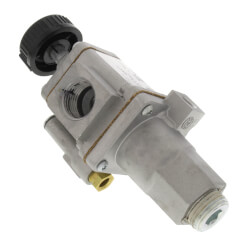 "1/2"" X 1/2"" Gas Safety Valve, Straight Through With Plugged Rear Inlet"