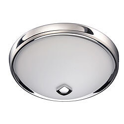 Model 768CHNT Decorative Ventilation Fan with Light, Chrome Finish (80 CFM)