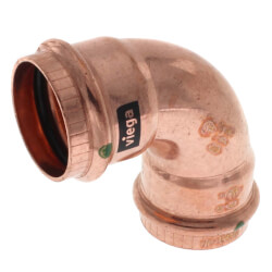 "1-1/4"" Propress Copper<br>90 Elbow Product Image"