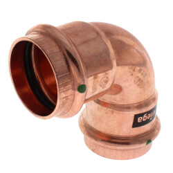 "1-1/2"" Propress Copper<br>90 Elbow Product Image"