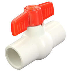 """1/2"""" 770N Economy PVC Ball Valve (Solvent Ends) Product Image"""