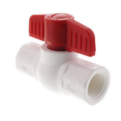 "1-1/2"" 770 PVC Ball Valve - Threaded Ends"