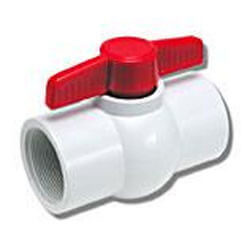 "1-1/2"" 770N Economy PVC Ball Valve - Threaded Ends"