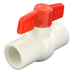 "1/2"" 770N Economy PVC Ball Valve - Threaded Ends"