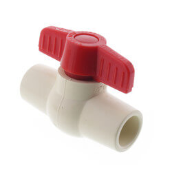 "1-1/4"" 771 CPVC Ball Valve - Solvent Ends"