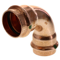 "1"" Propress Copper<br>90 Elbow Product Image"
