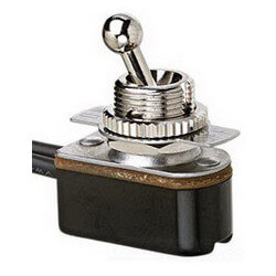 On-Off SPST Short Ball Toggle Switch with Wire Leads (125/250V) Product Image