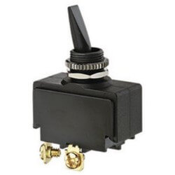 On-Off SPST Dbl. Insulated Plastic Toggle Switch with Screw Term. (125/250V) Product Image