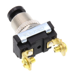 (On)-Off BP Momentary Contact Push-Button Switch w/ Screw Term.  Product Image