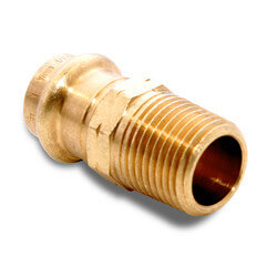 "1/2"" C x 1/2"" M NPT Bronze Adapter, Zero Lead"