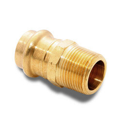 "1/2"" P x 3/4"" MNPT Bronze Adapter (Lead Free)"
