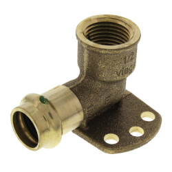 """1/2"""" x 1/2"""" Bronze 90° Drop Ear Elbow (Lead Free) Product Image"""