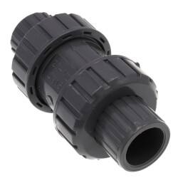 "2"" Gray True Union Ball Check Valve w/ End Connectors Product Image"