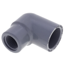 "3/4"" Socket x 1/2""<br>FPT CPVC Schedule<br>80 90° Elbow Product Image"