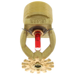 "Brass Pendant Sprinkler Head - 155°F<br>(3/4"" Thread) Product Image"