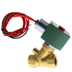 "1/2"" Normally Closed,<br>2-Way Brass Solenoid<br>Valve (120/60 AC) Product Image"