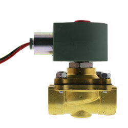"3/4"" NPT NC 2-Way Brass Solenoid Valve for Steam (120/60AC) Product Image"