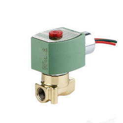 "1/4"" NPT 2-Way Normally Closed Brass Solenoid Valve (24 VDC) Product Image"