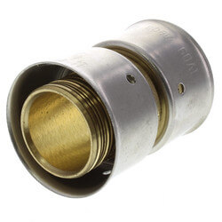 "Bronze 1"" PEX Press Coupling w/ Attached Sleeve"