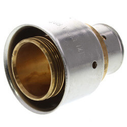 "Bronze 3/4"" x 1-1/4"" PEX Press Coupling w/ Attached Sleeve"