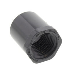 "3/4"" x 1/4"" PVC Sch. 80 Flush Style Reducer Bushing (Spigot x FPT) Product Image"