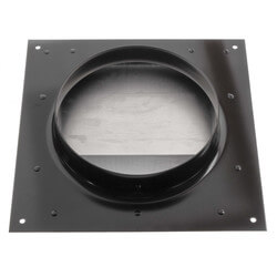 "6"" Round Duct Black Wall Cap w/ Damper Product Image"