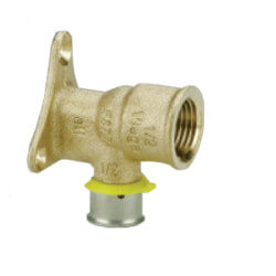 "Bronze 3/4"" PEX Press x 1/2"" F NPT w/ Attached Sleeve"