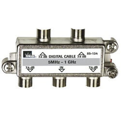 High Performance 4-Way Cable Splitter (5MHz-1GHz) Product Image