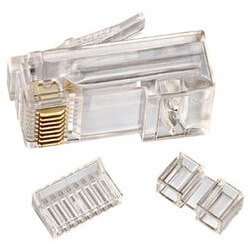 8-Position 8-Contact RJ-45 CAT 6 Modular Plug<br>(Box of 25) Product Image