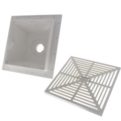 """2"""" SquareMax PVC Floor Sink w/ Full Size Strainer Product Image"""