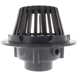 """3"""" PVC Schedule 40 Hub Solvent Weld Roof Drain w/ Polypro Dome Strainer Product Image"""